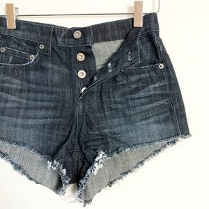 NWT LF Carmar Button Fly High Rise Cut Off Shorts